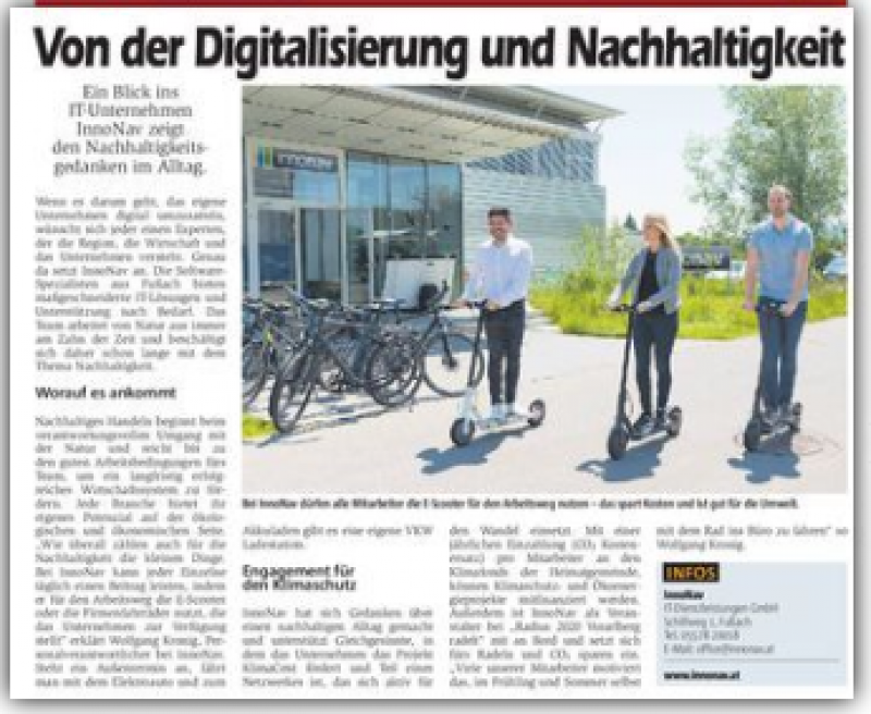 Von der Digitalisierung und der Nachhaltigkeit
